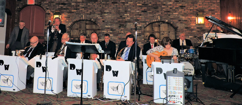 14-pc Big Band, 4 saxes, 4 trumpets, 2 trombones, guitar/vocalist, piano, string bass, drum