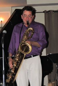 John blew us away on bari sax!