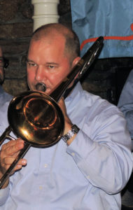 Gerry on trombone
