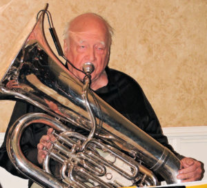 Pierre playing tuba