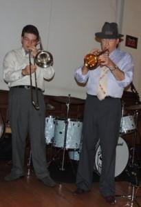 Dan Gabel trombone, Jeff Hughes trumpet