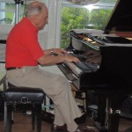 Phil Hower at piano