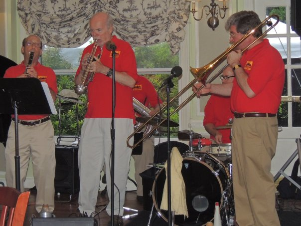 Steve Straus clarinet, Larry Baxter cornet, Frank Bachelor trombone