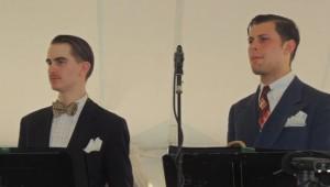 Gatsby-looking Davis, suited Holkum