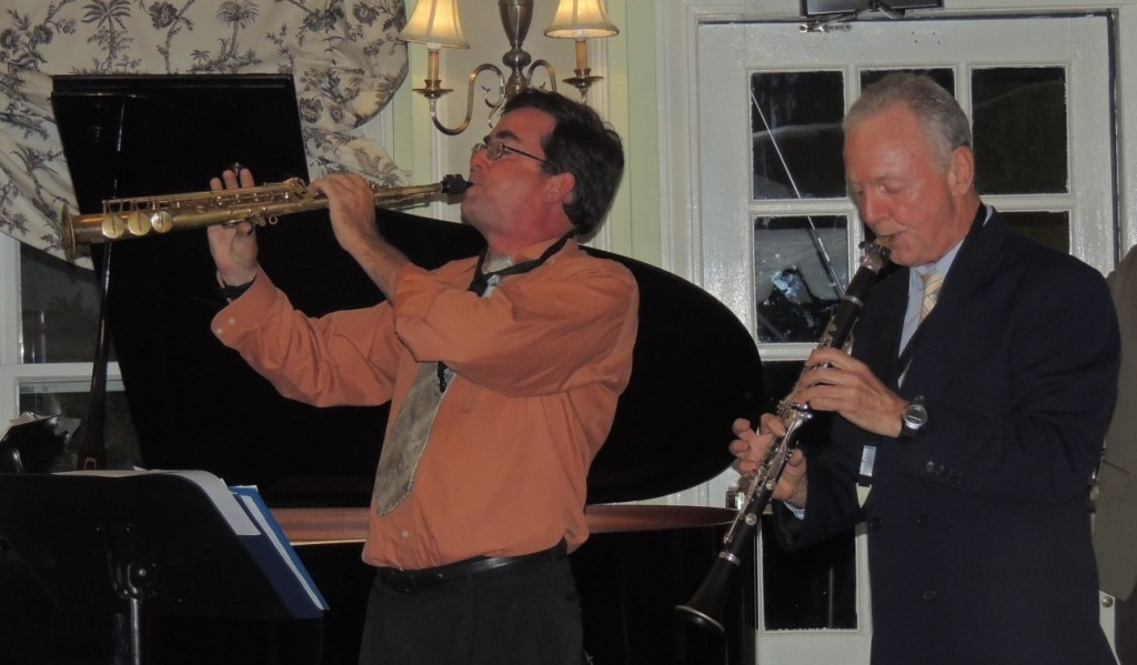 Clark on soprano sax, Ball on clarinet