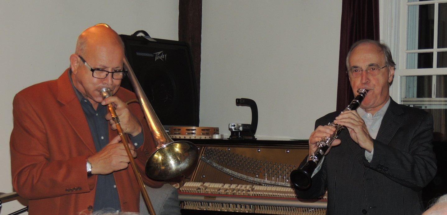 Daniel on trombone, Alain on clarinet