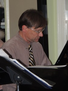 Ross Petot on piano