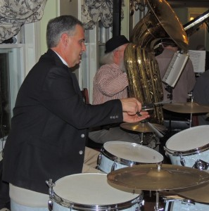 Taddeo playing drums