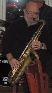 Casher on tenor sax