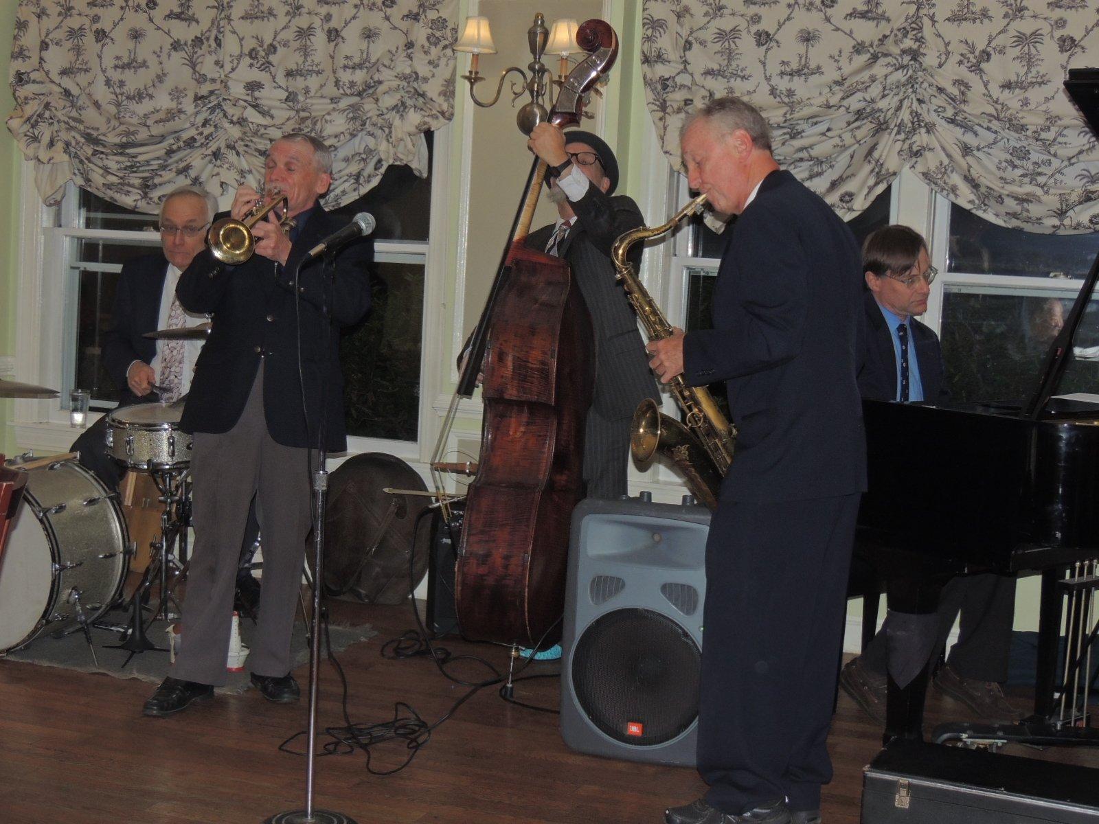 Dave Whitney trumpet, Craig Ball tenor sax/clarinet, Ken Steiner string bass, Ross Petot piano, Dave Bragdon drums.