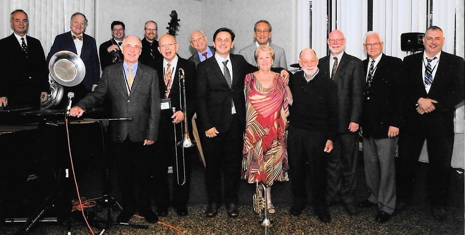 formal picture of all the men and Jane Campedelli