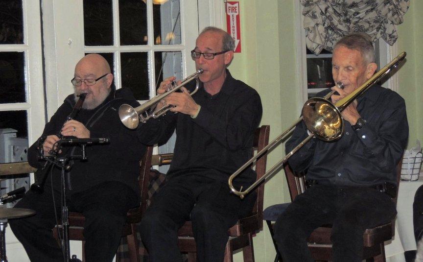 Ted Casher clarinet, Bo Winiker trumpet, Herb Gardner trombone