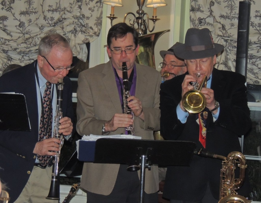 Ball and Clark on clarinet, Hughes trumpet