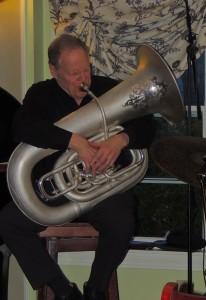 Eli Newberger on circa 1909 Holton Del Negro CC tuba
