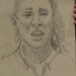 Gabby face sketch by  Carolyn