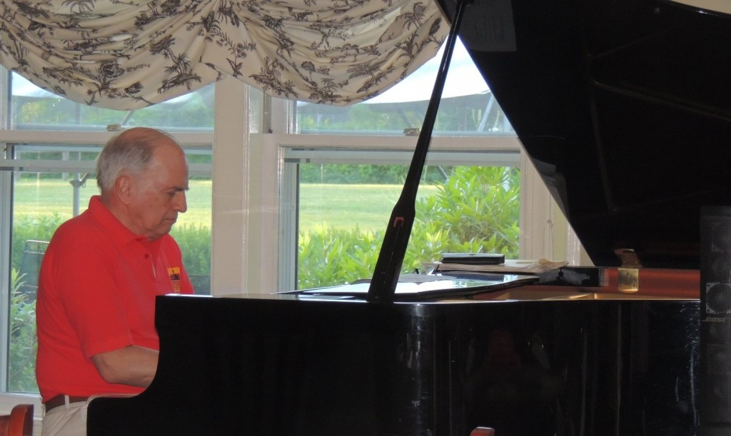 Phil Hower on baby grand