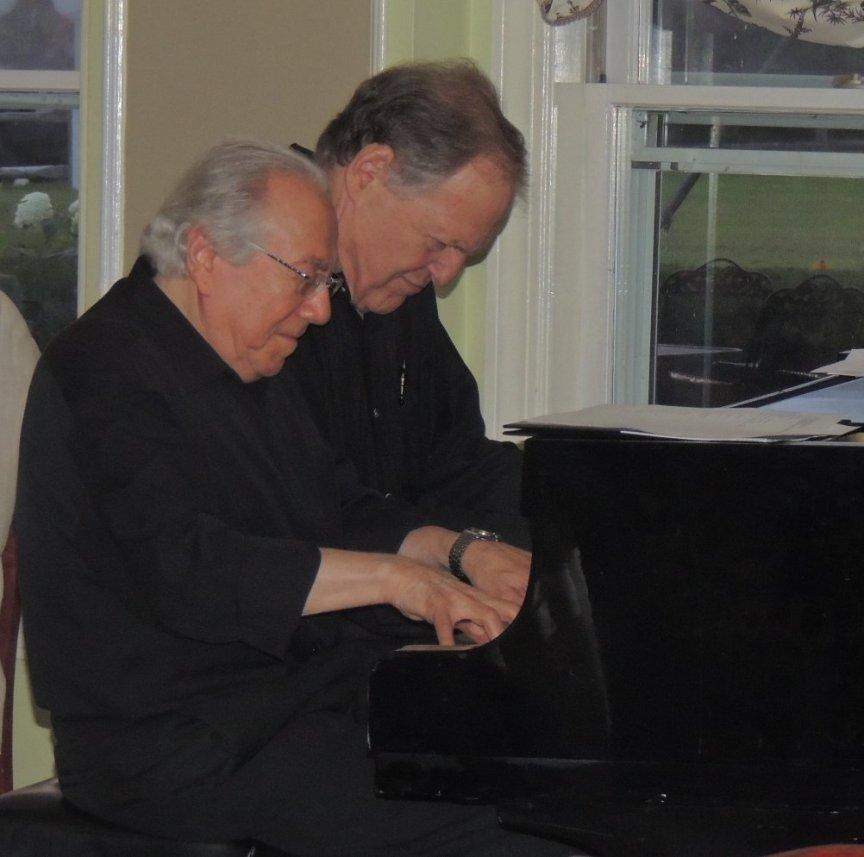 Eli and Bob on piano