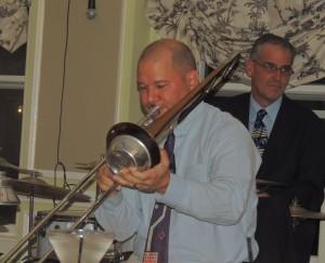 muted trombone and drum