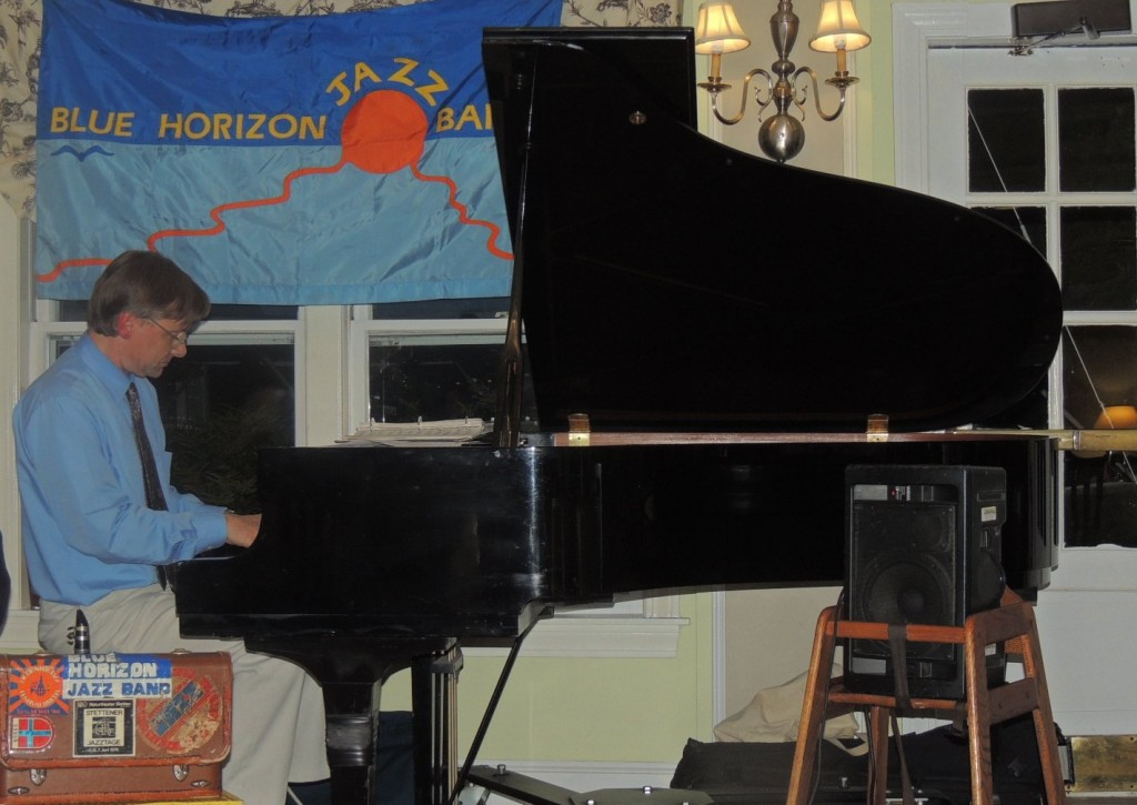 Ross Petot on baby grand