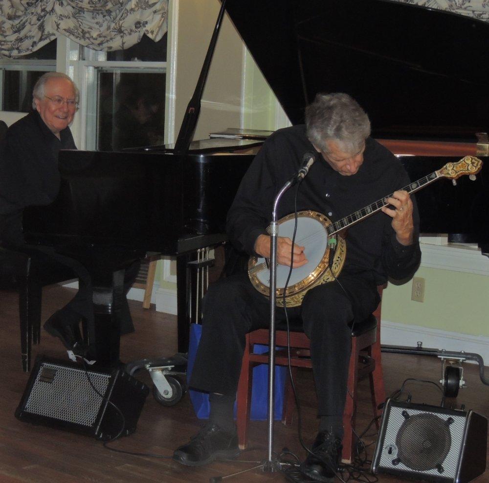 Bob at piano with Jimmy guitar