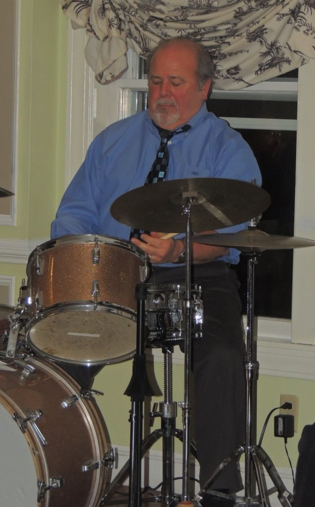 Dave tapping on snare drum rims