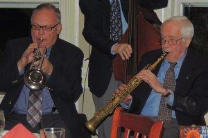 Jeff on trumpet, McDonald soprano sax