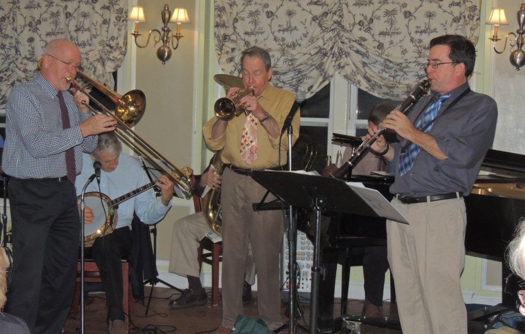 Trombone, trumpet, and clarinet