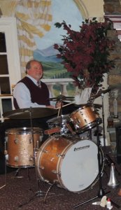 Dave on drums
