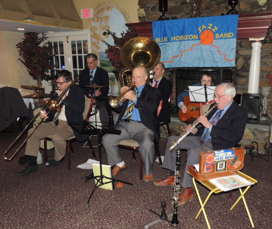 7 pc Trad Jazz Band, with guitar