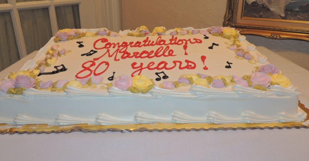 very large birthday cake!