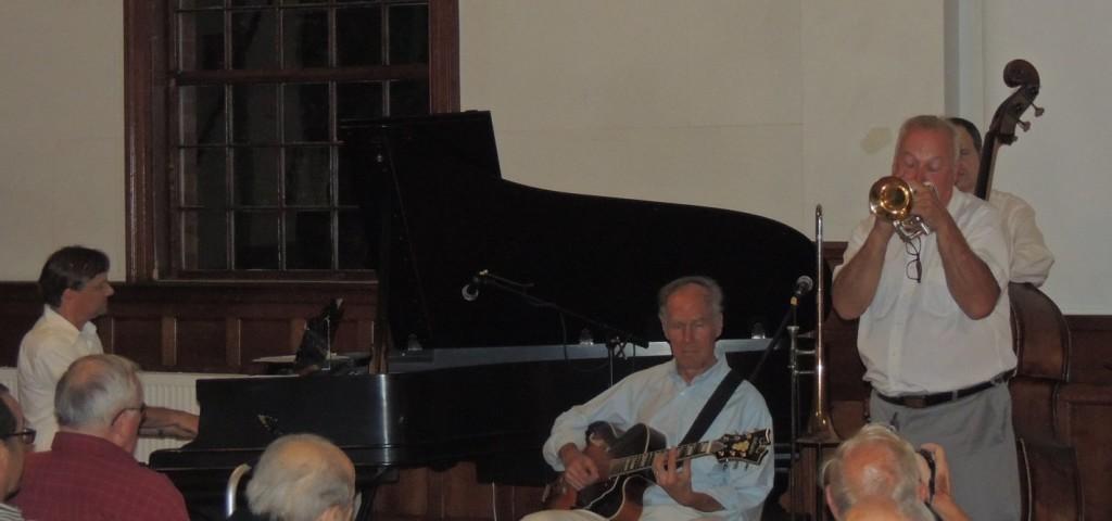 Paul on cornet with rhythm section