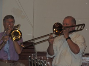 two trombones
