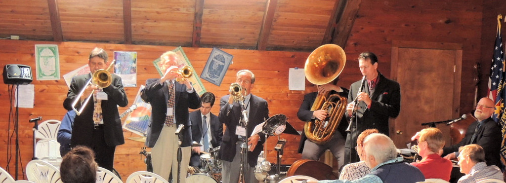 7 piece Trad Jazz Band with Joel in back