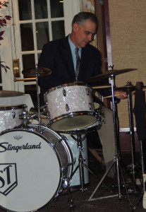 Taddeo on Slingerland drums