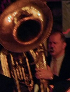 Gerry with huge tuba