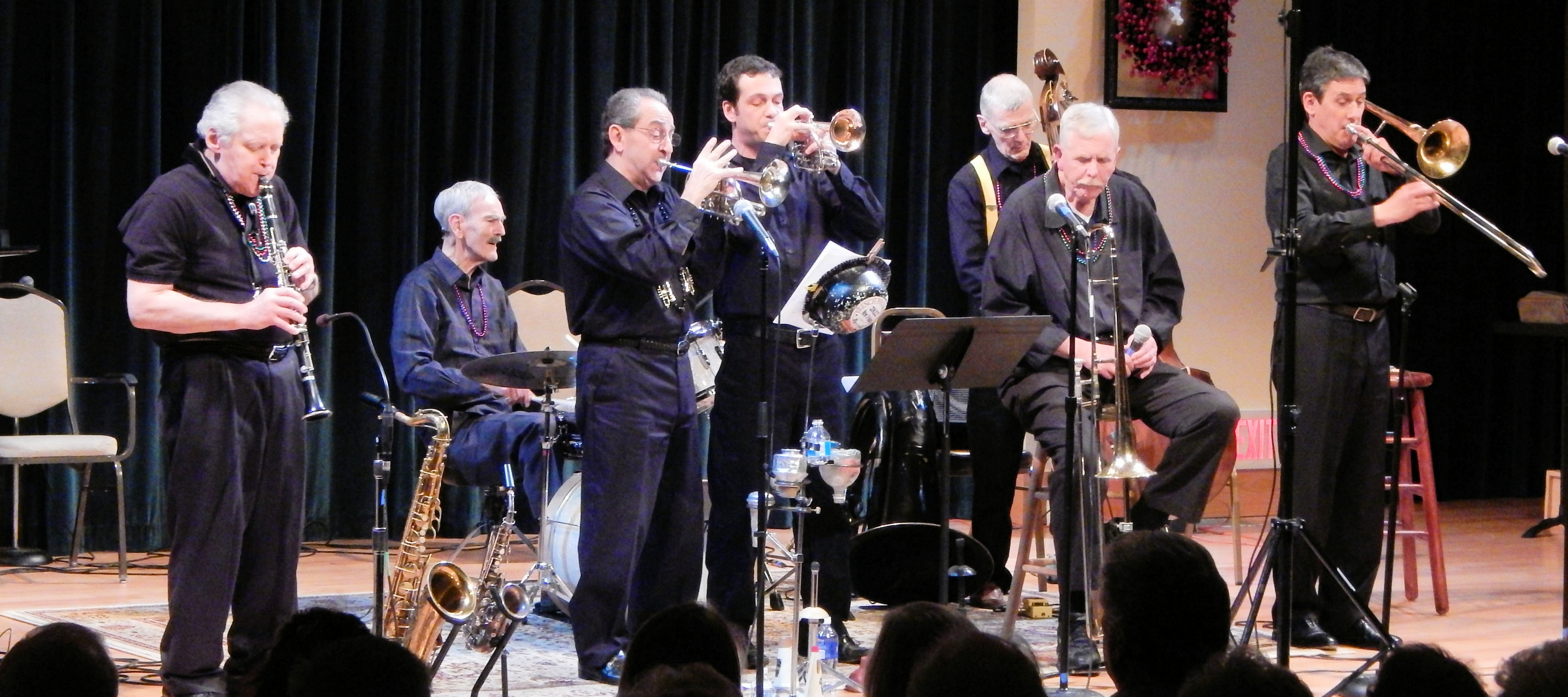 Band with trombone and extra cornet