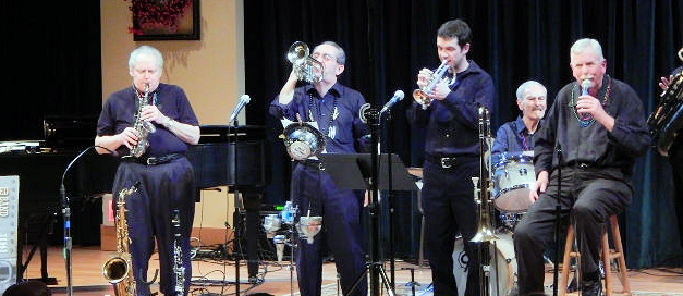 7 pc Trad Jazz Band, no banjo, 2 cornets