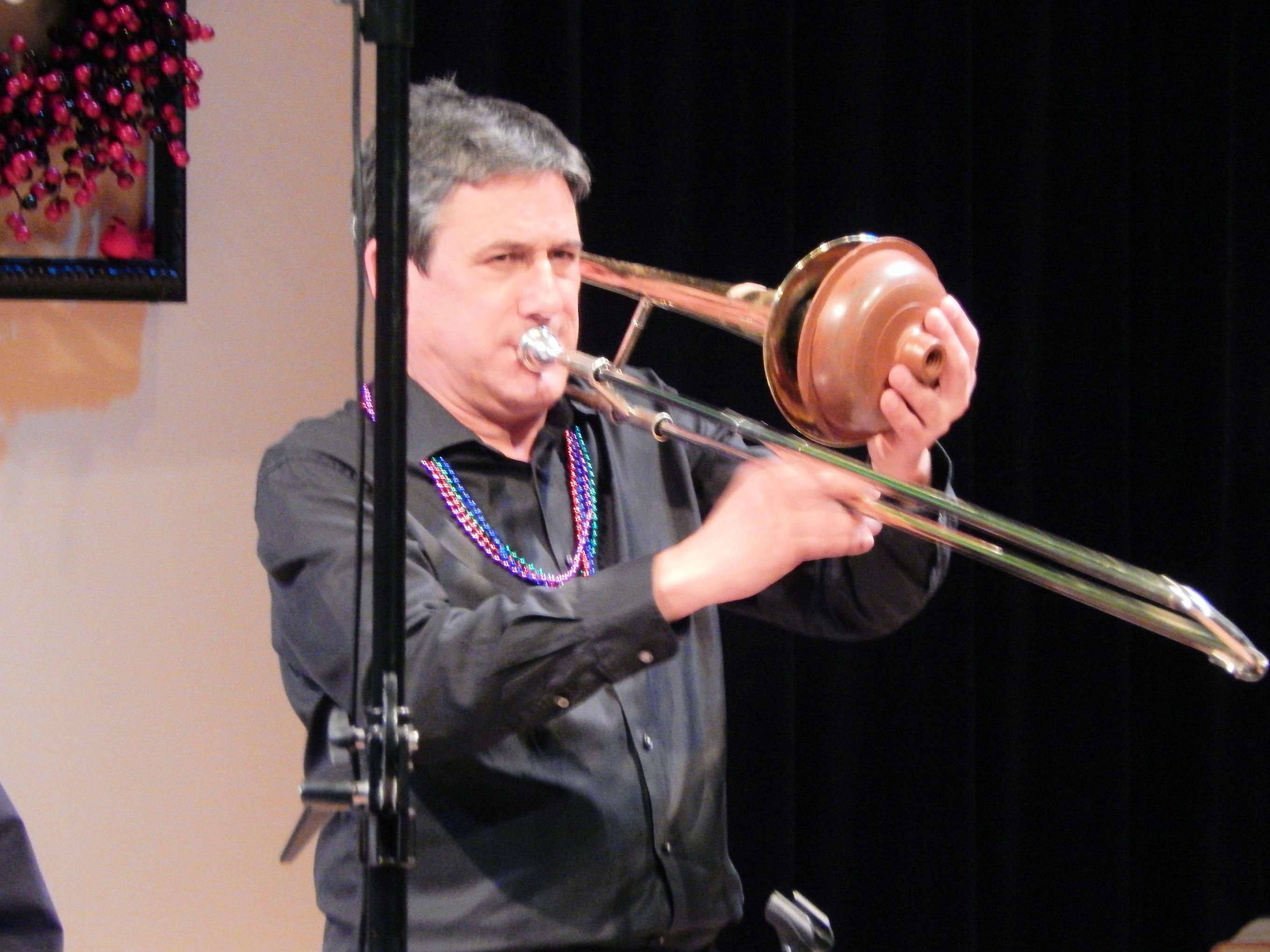 Jim on muted trombone