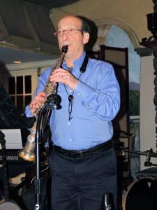 Steve on soprano sax