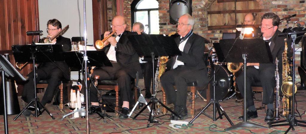trombone, trumpet, alto sax, bari sax
