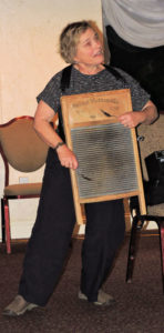 Carolyn on washboard