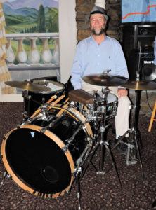 Rich on Trad Jazz drum set