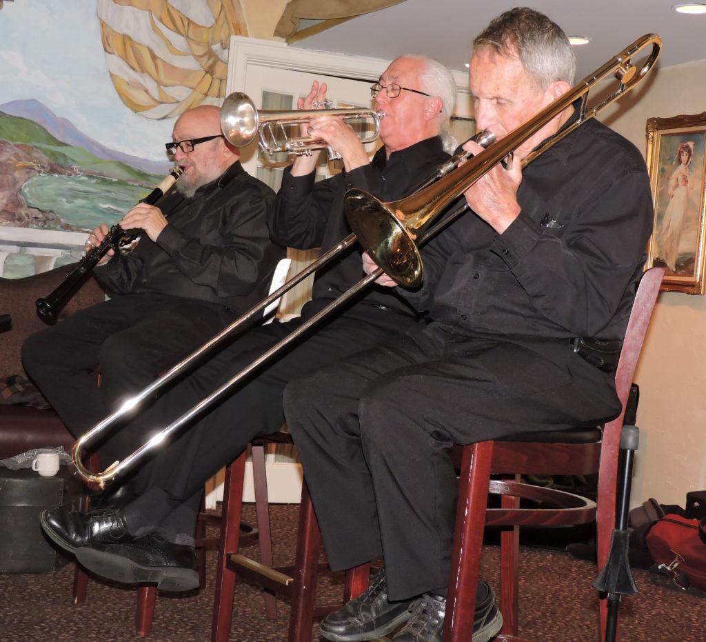 trombone, trumpet, clarinet