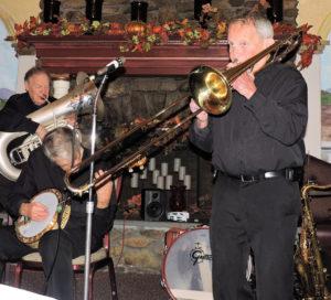 Herb on extended trombone