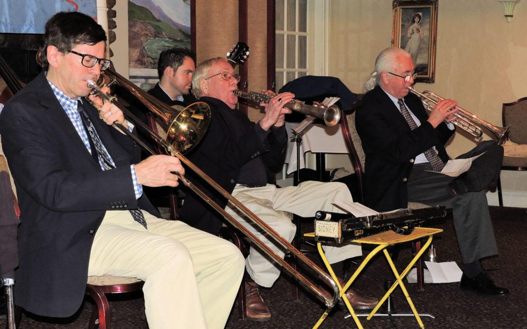 trombone, soprano sax, trumpet