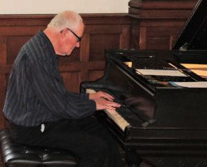 Frank on piano