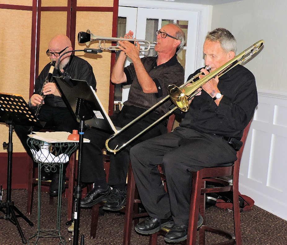 clarinet, trumpet, trombone