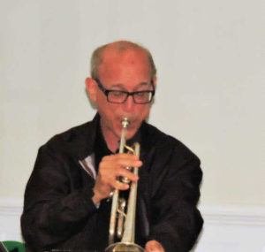 Bo on trumpet