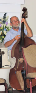 Stu Gun on acoustic double bass
