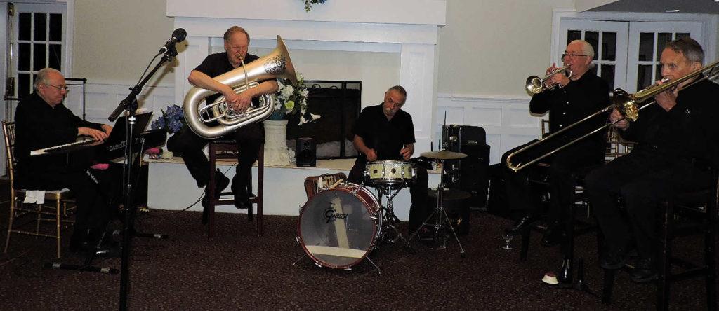 keyboard, tuba, drum, trumpet, trombone